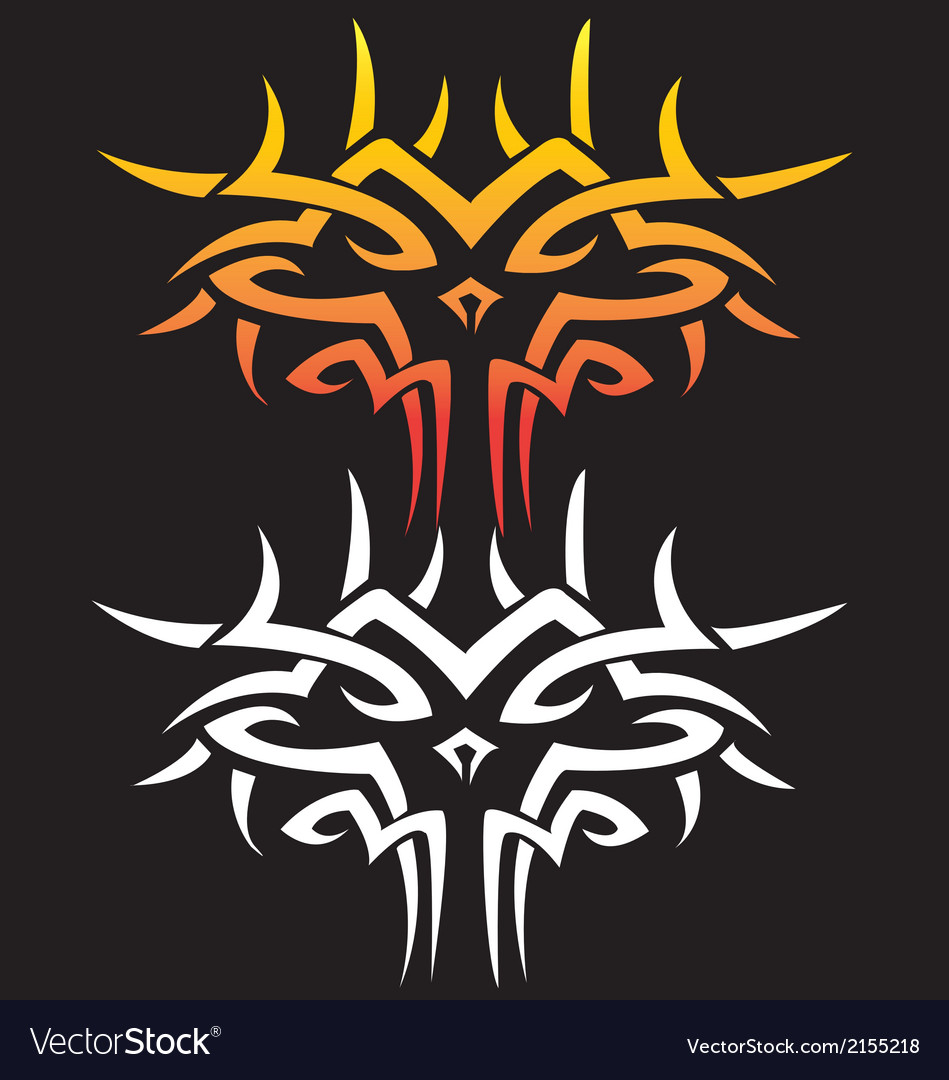 Tattoo graphic of dragon face vector | Price: 1 Credit (USD $1)