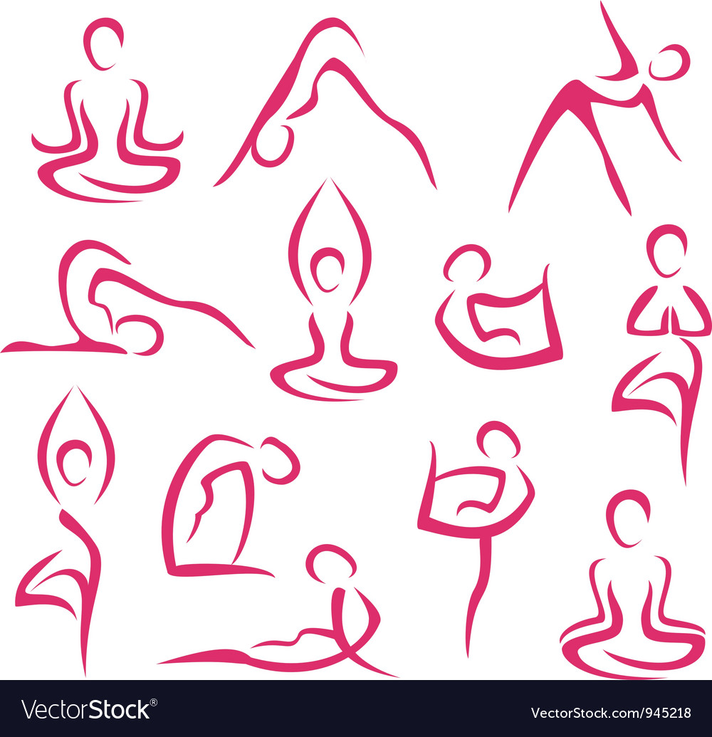 Yoga big set vector | Price: 1 Credit (USD $1)
