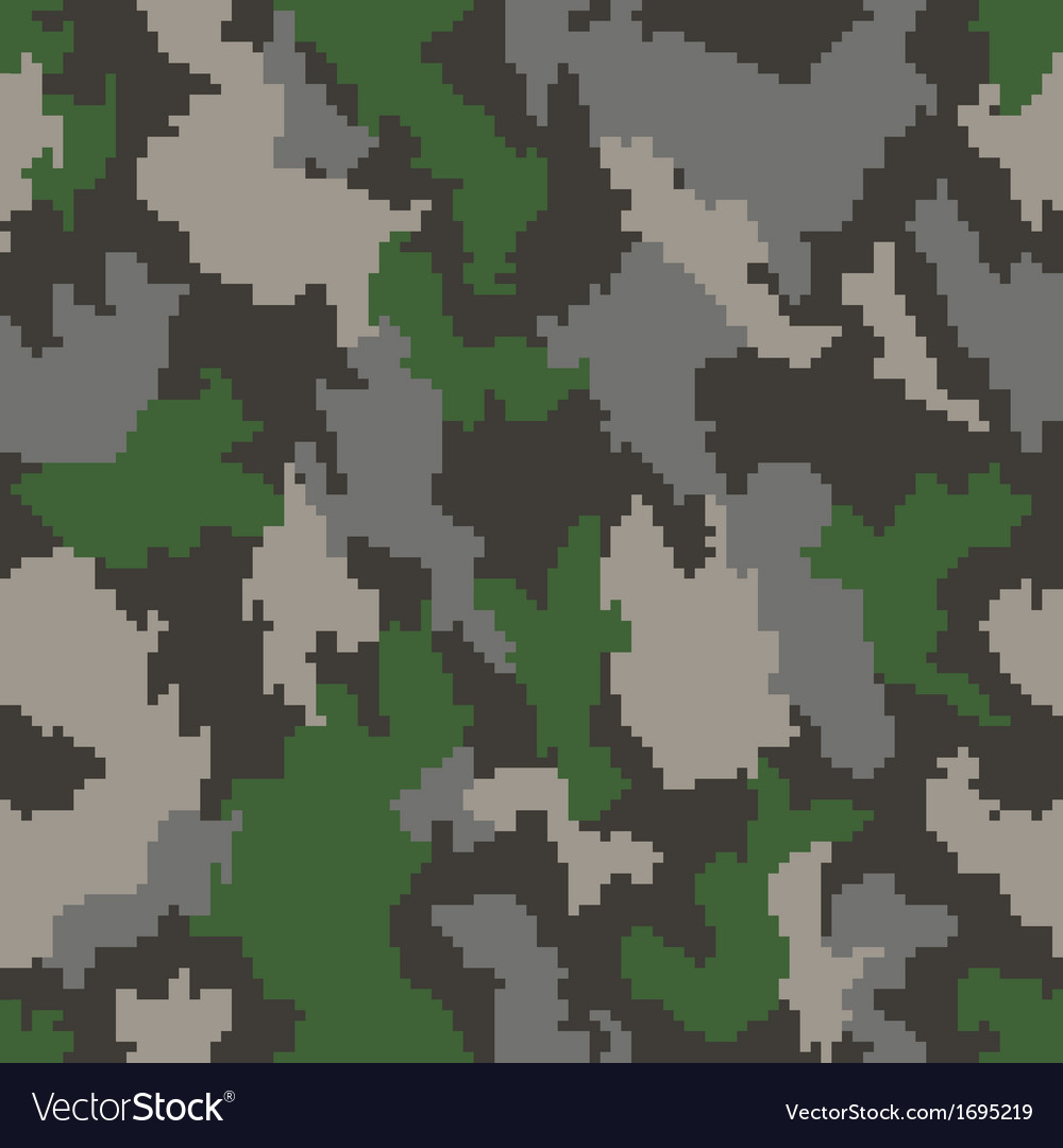 Camouflage seamless background vector | Price: 1 Credit (USD $1)