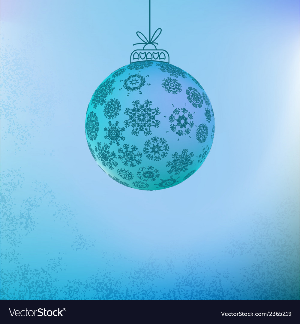 Christmas background with blue ball  eps8 vector   Price: 1 Credit (USD $1)