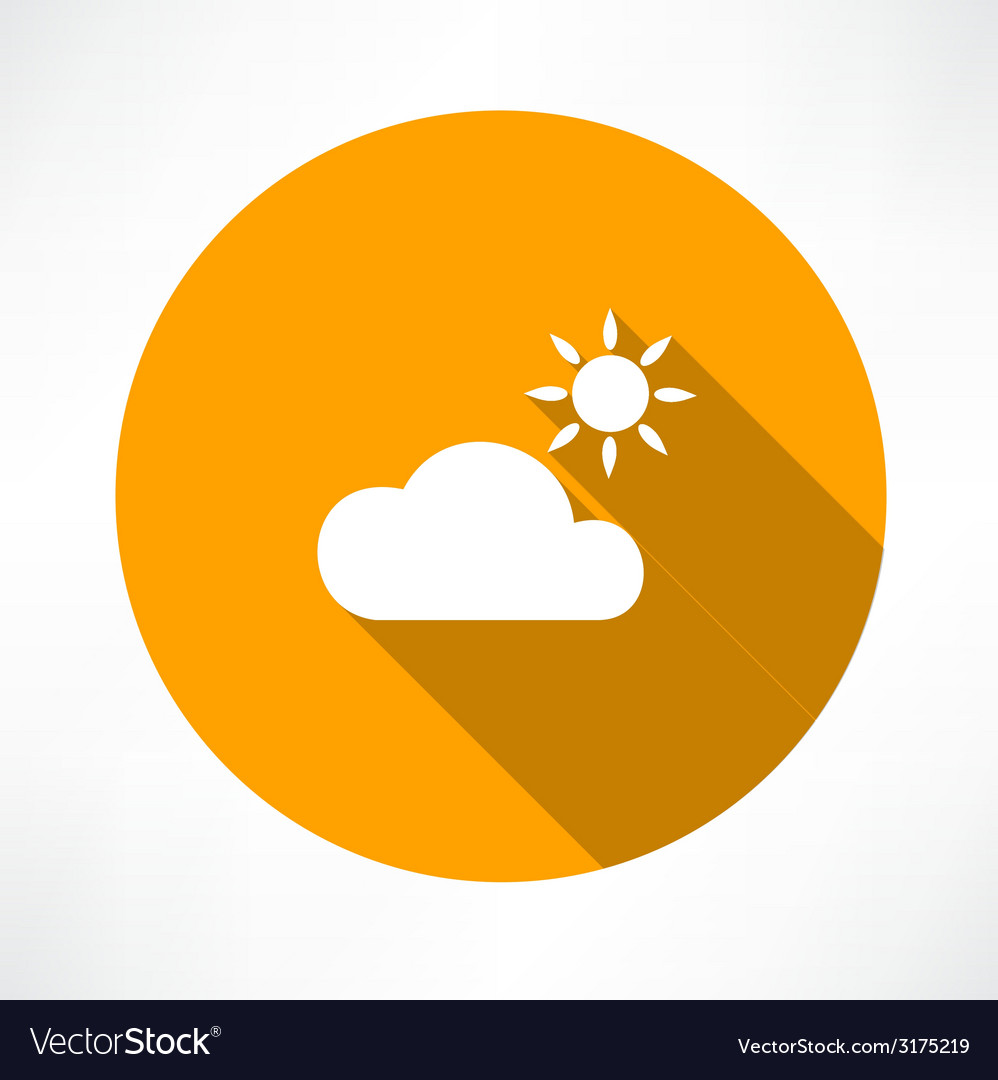 Cloud and sun vector | Price: 1 Credit (USD $1)