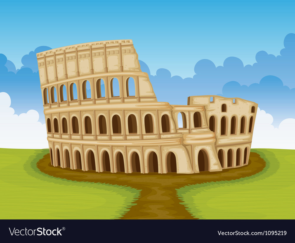 Colosseum italy vector | Price: 1 Credit (USD $1)