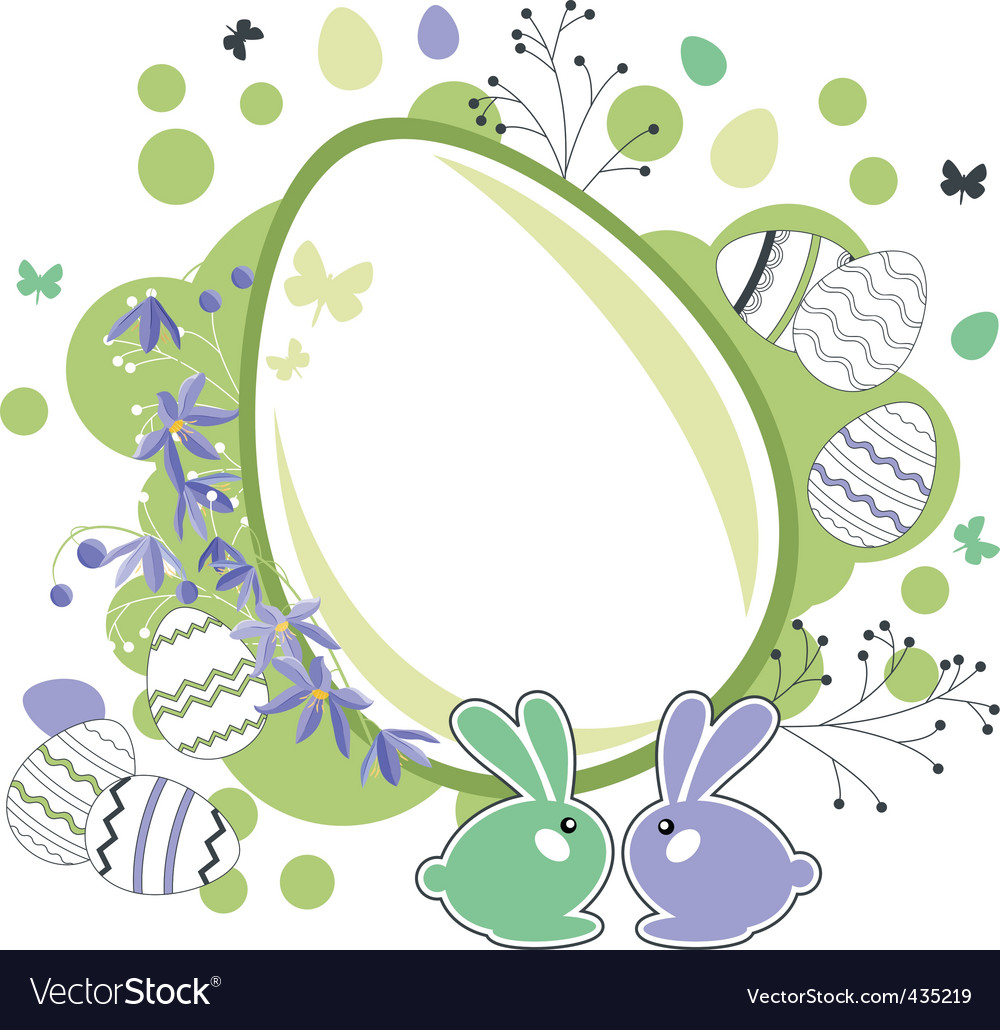 Easter greeting card with eggs vector | Price: 1 Credit (USD $1)