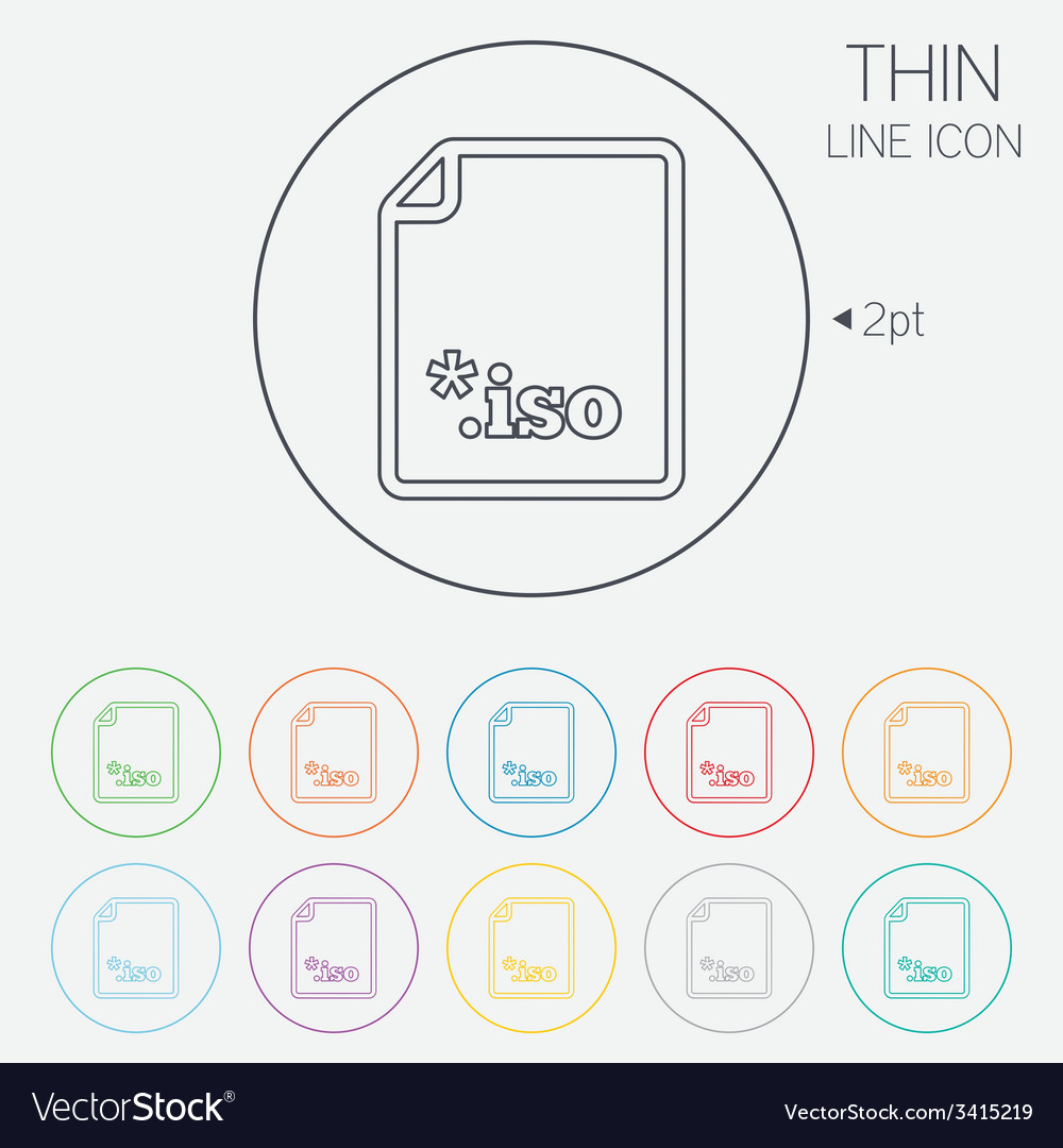 File iso icon download virtual drive file vector | Price: 1 Credit (USD $1)
