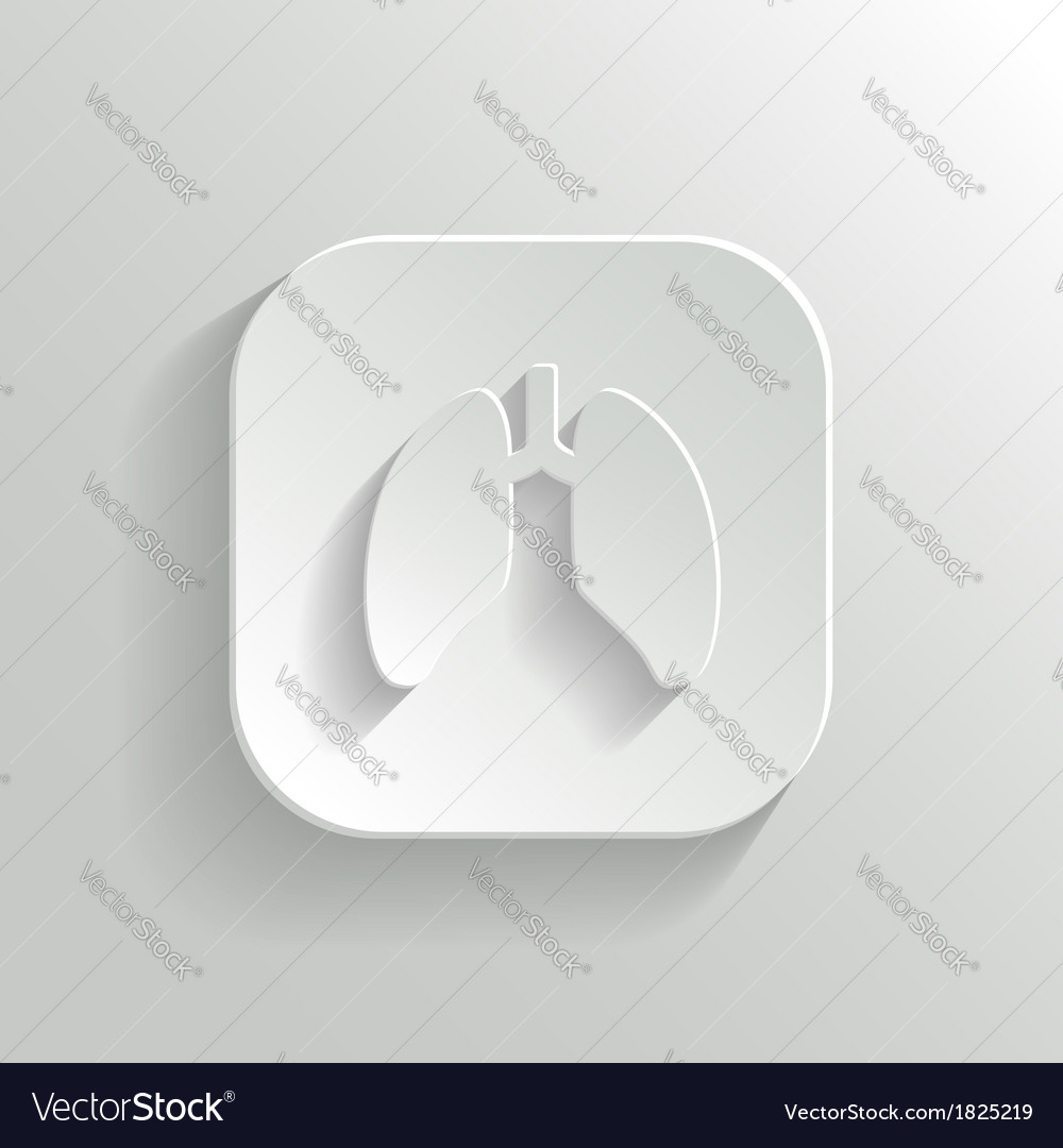 Lungs icon - white app button vector | Price: 1 Credit (USD $1)