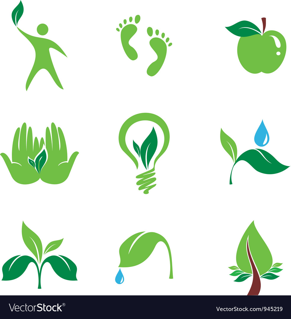 Nature set of symbols vector | Price: 1 Credit (USD $1)