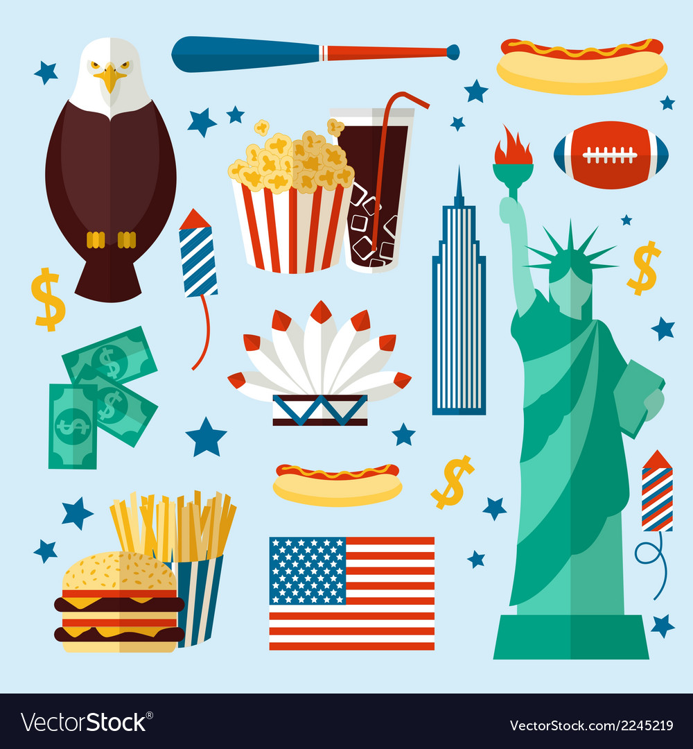 New york usa set vector | Price: 1 Credit (USD $1)