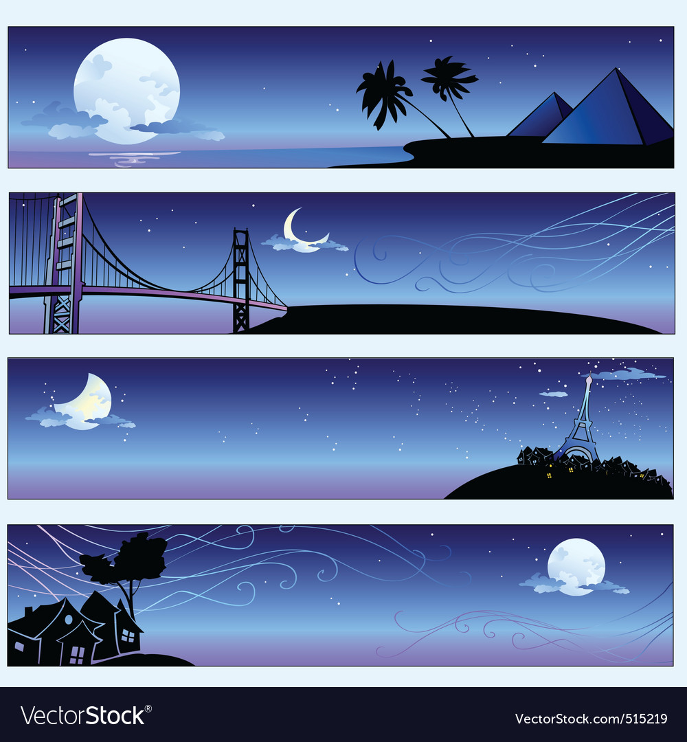Romantic travel banners vector | Price: 1 Credit (USD $1)