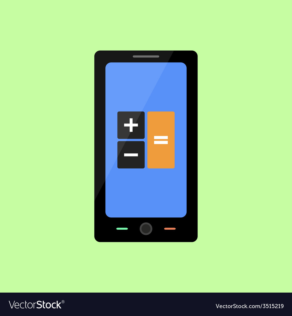 Smart phone with calculator icon vector | Price: 1 Credit (USD $1)