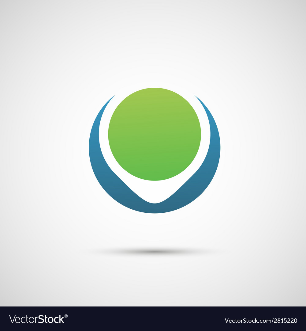 Abstract symbol of planet and environment vector | Price: 1 Credit (USD $1)