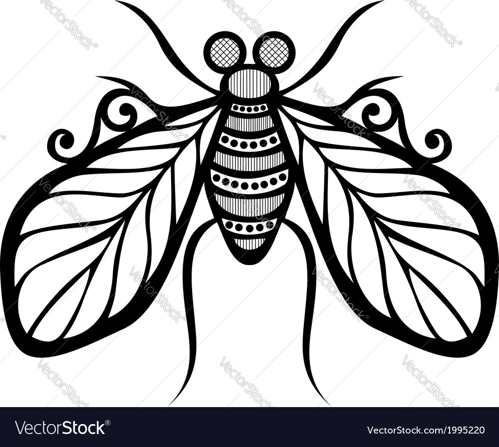 Beautiful fly exotic insect vector | Price: 1 Credit (USD $1)