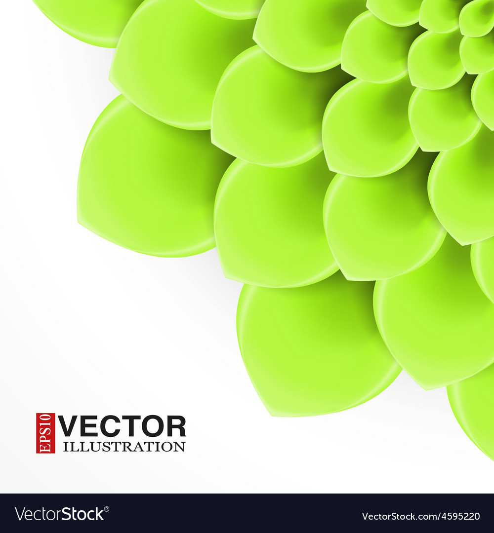 Greeting card or background with light green vector | Price: 3 Credit (USD $3)