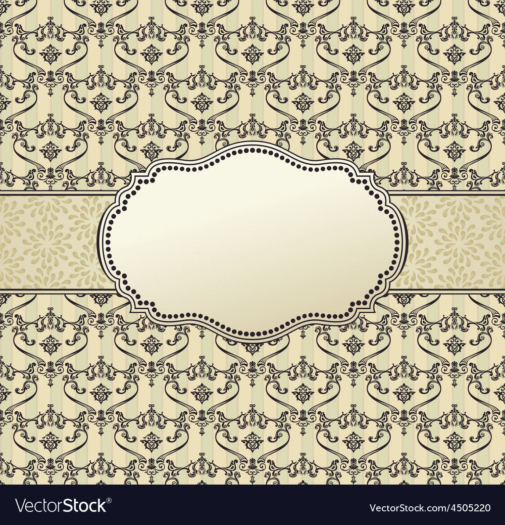 Invitation art frame package label vintage vector | Price: 1 Credit (USD $1)
