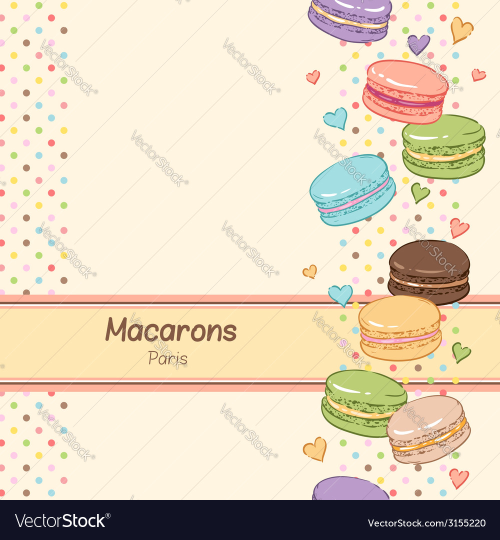 Macarons vertical vector | Price: 1 Credit (USD $1)