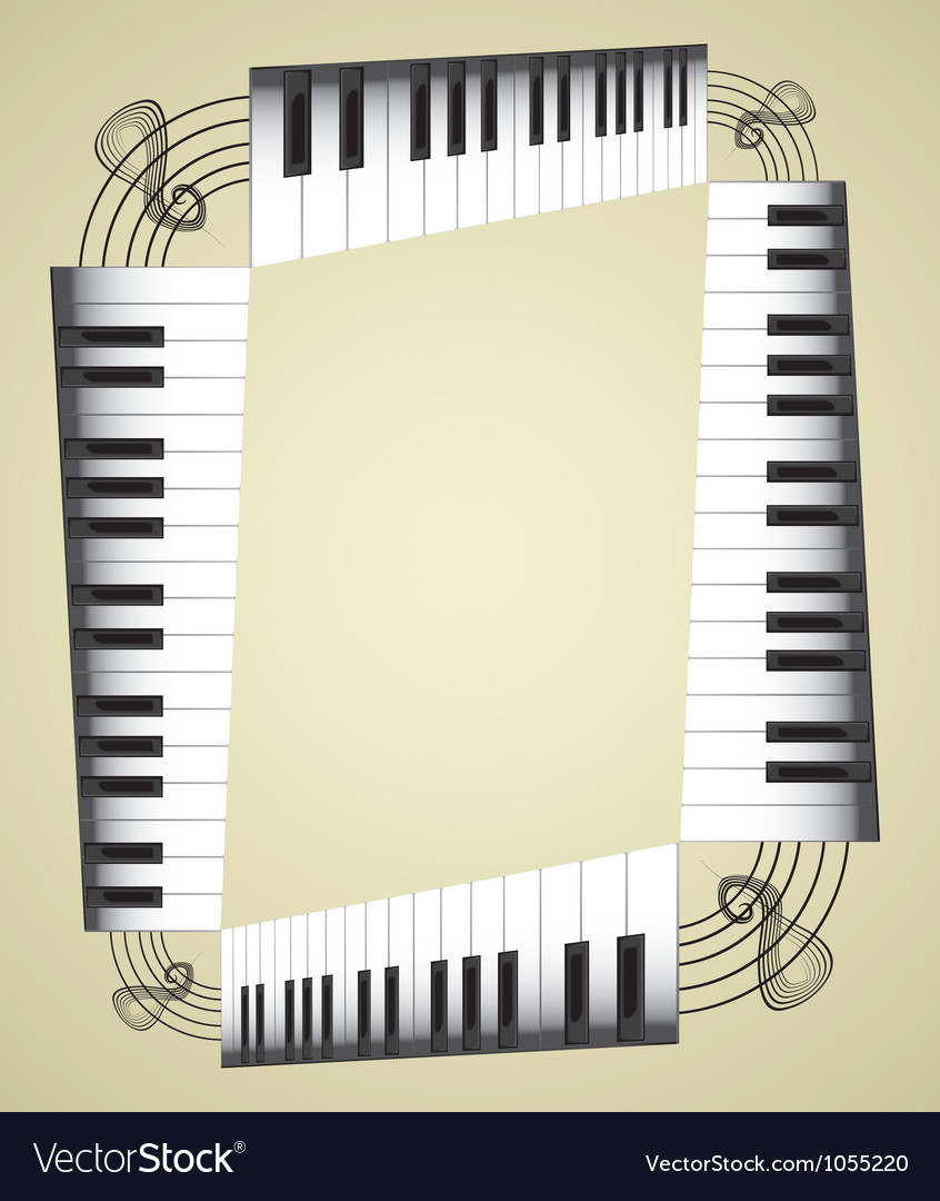 Music notes border vector | Price: 1 Credit (USD $1)