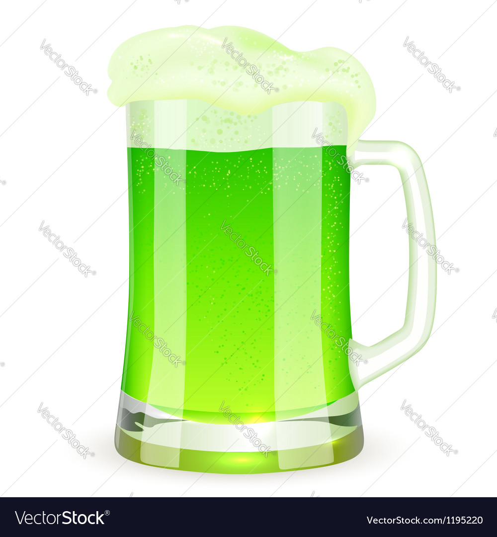 Saint patricks day pint of green beer vector | Price: 1 Credit (USD $1)