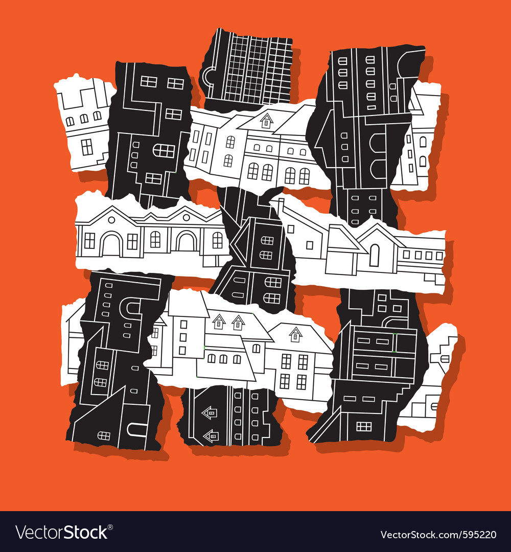 Torn city vector | Price: 1 Credit (USD $1)