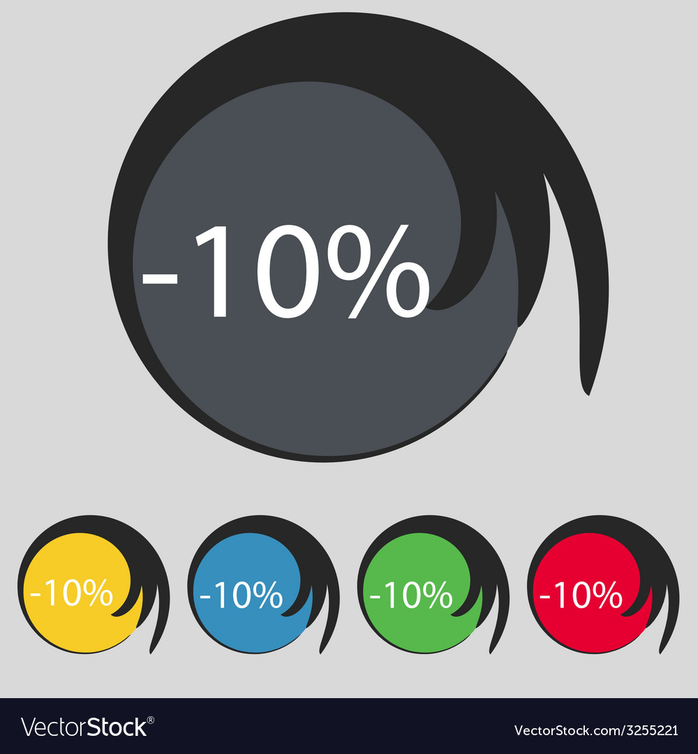 10 percent discount sign icon sale symbol special vector | Price: 1 Credit (USD $1)