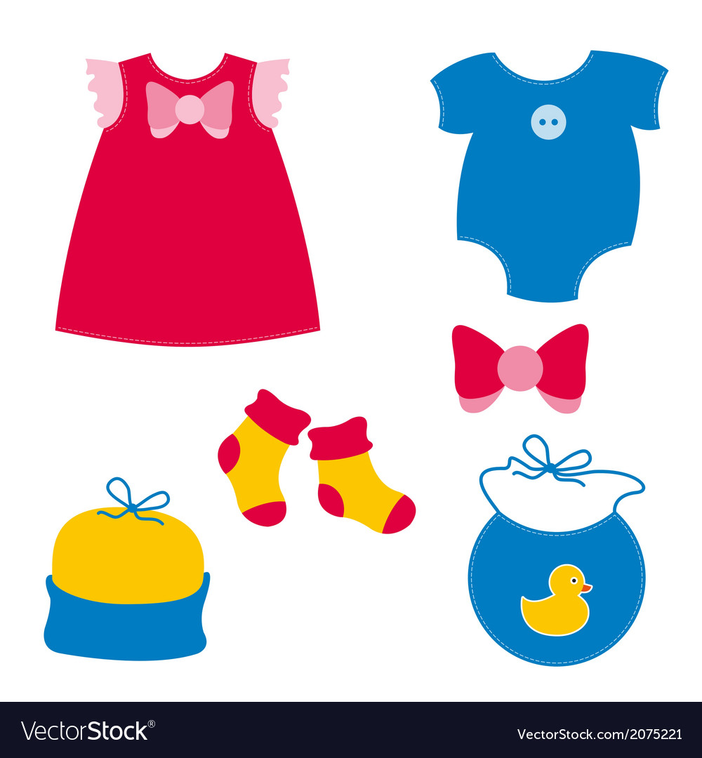 Baby clothing vector | Price: 1 Credit (USD $1)
