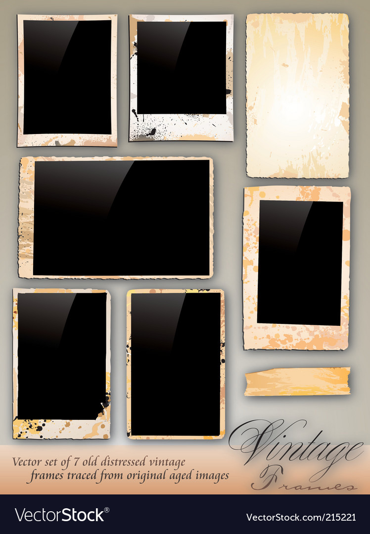 Collection of vintage photo frames vector | Price: 3 Credit (USD $3)