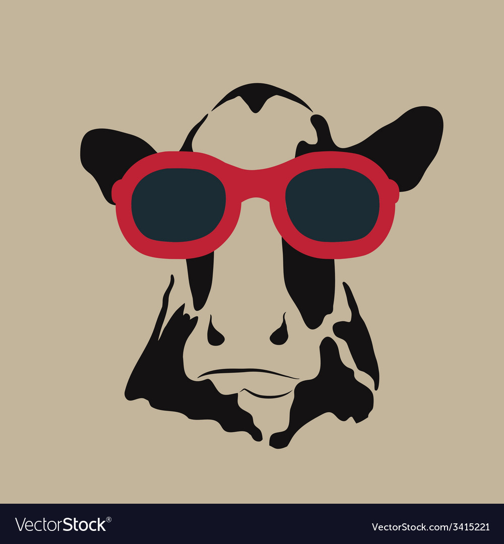 Cow glasses vector | Price: 1 Credit (USD $1)