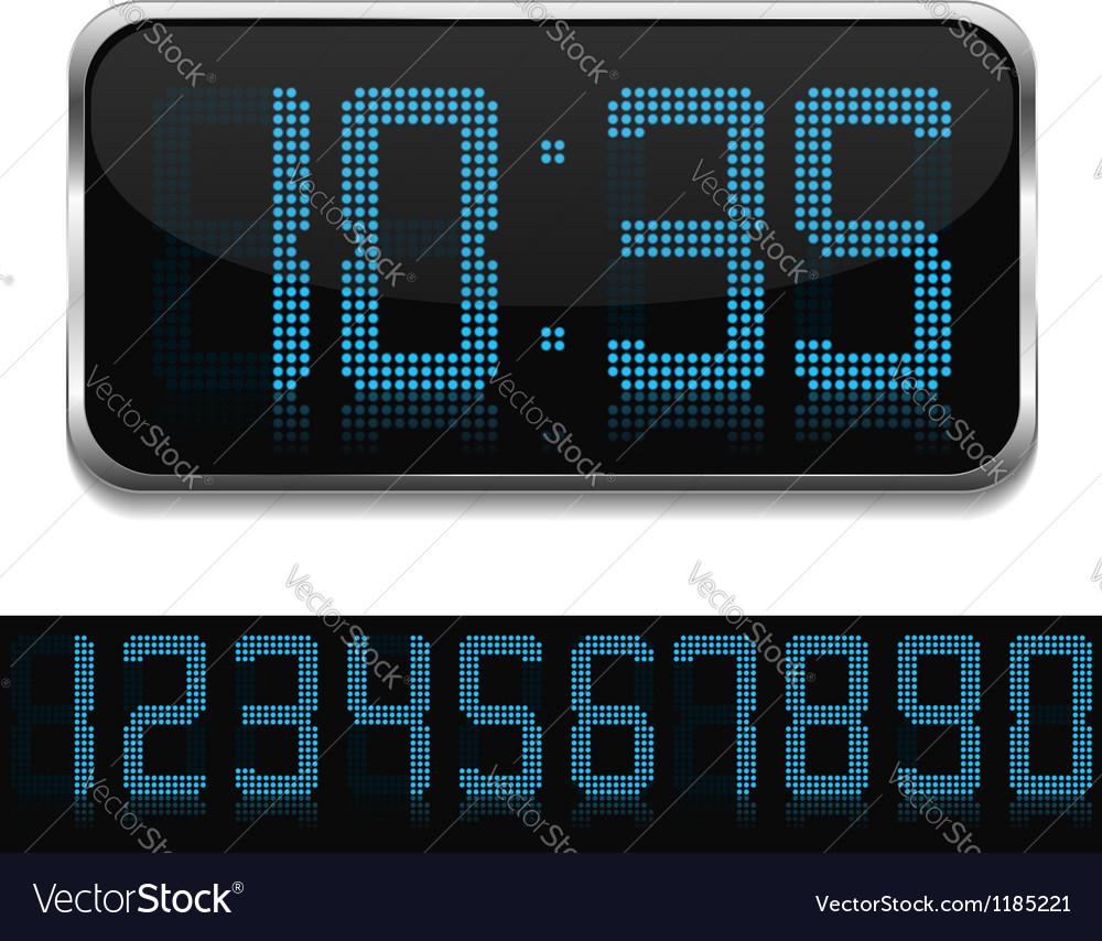 Digital clock vector | Price: 3 Credit (USD $3)