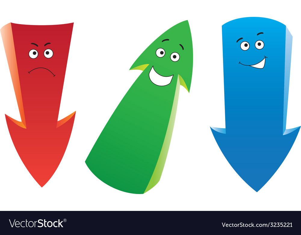 Emotion arrows set vector | Price: 1 Credit (USD $1)