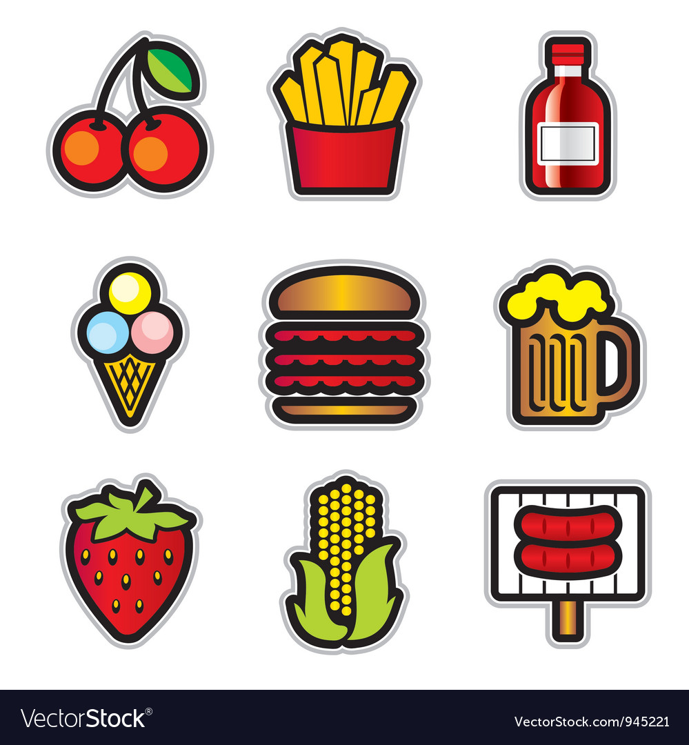 Food contur vector | Price: 1 Credit (USD $1)