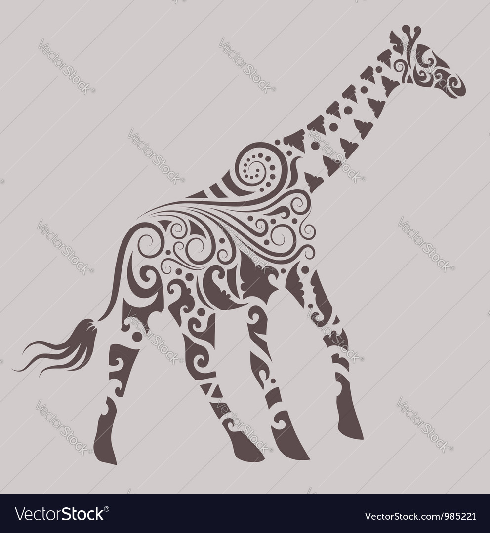 Giraffe ornament vector | Price: 1 Credit (USD $1)