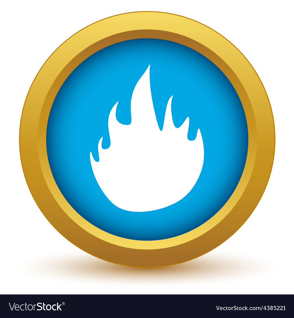 Gold fire icon vector | Price: 1 Credit (USD $1)