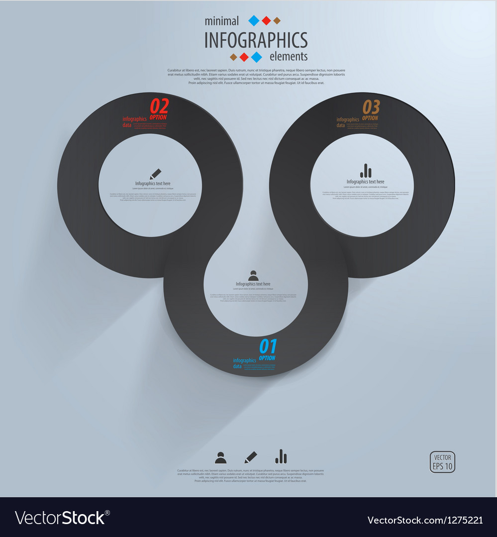 Infographics template 3 vector | Price: 1 Credit (USD $1)