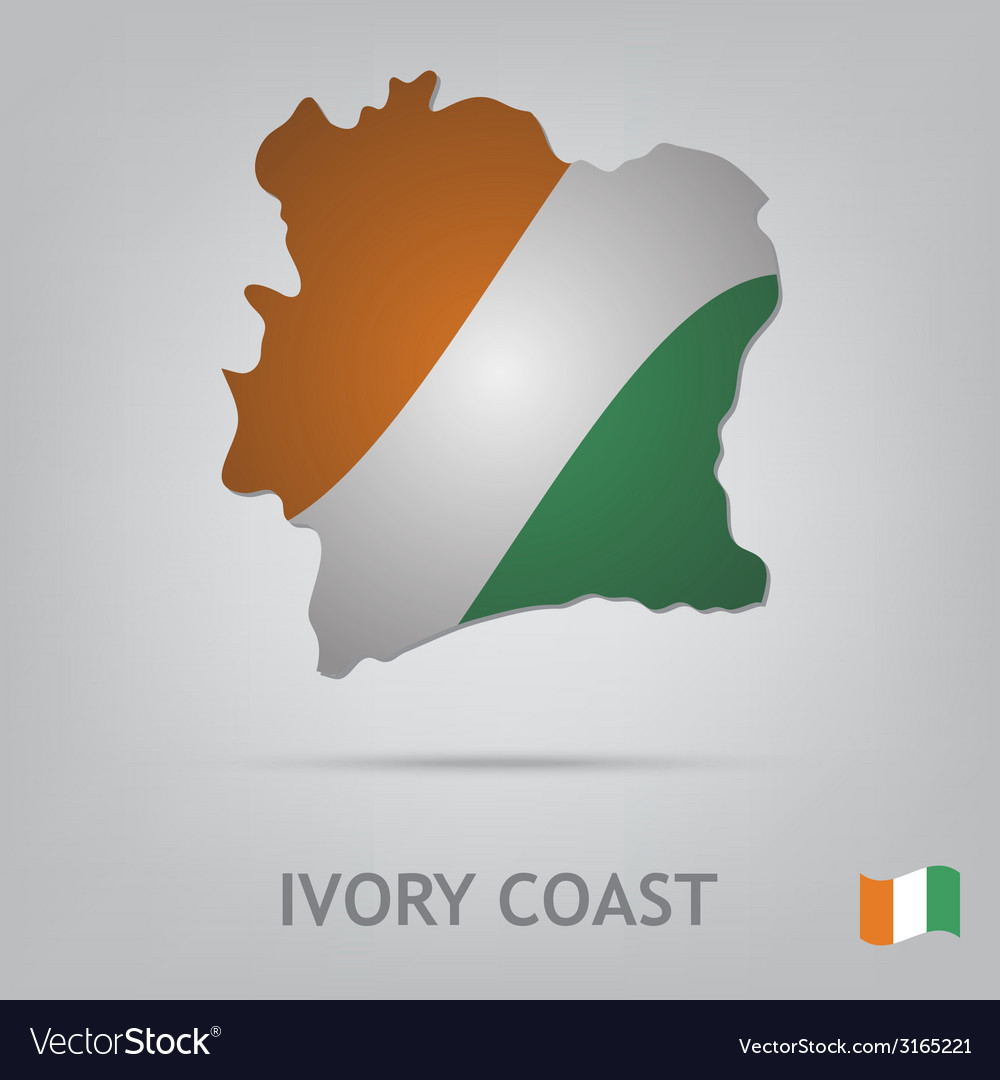 Ivory coast vector | Price: 1 Credit (USD $1)