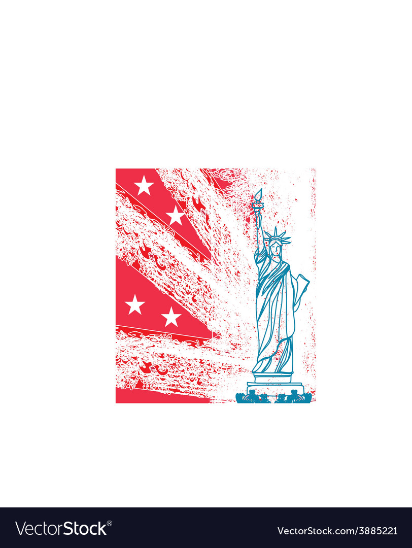 Statue of liberty grunge background vector | Price: 1 Credit (USD $1)