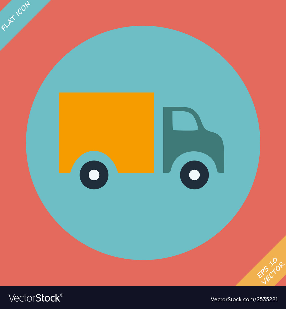 Truck icon -  flat design vector | Price: 1 Credit (USD $1)