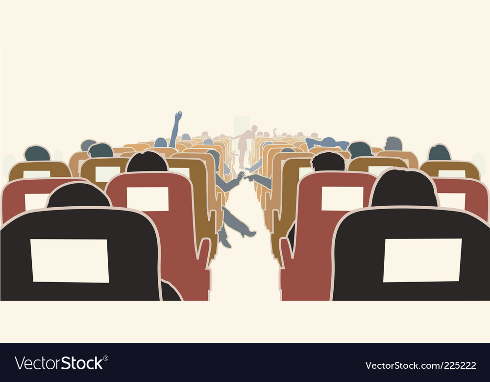 Airplane interior vector | Price: 1 Credit (USD $1)