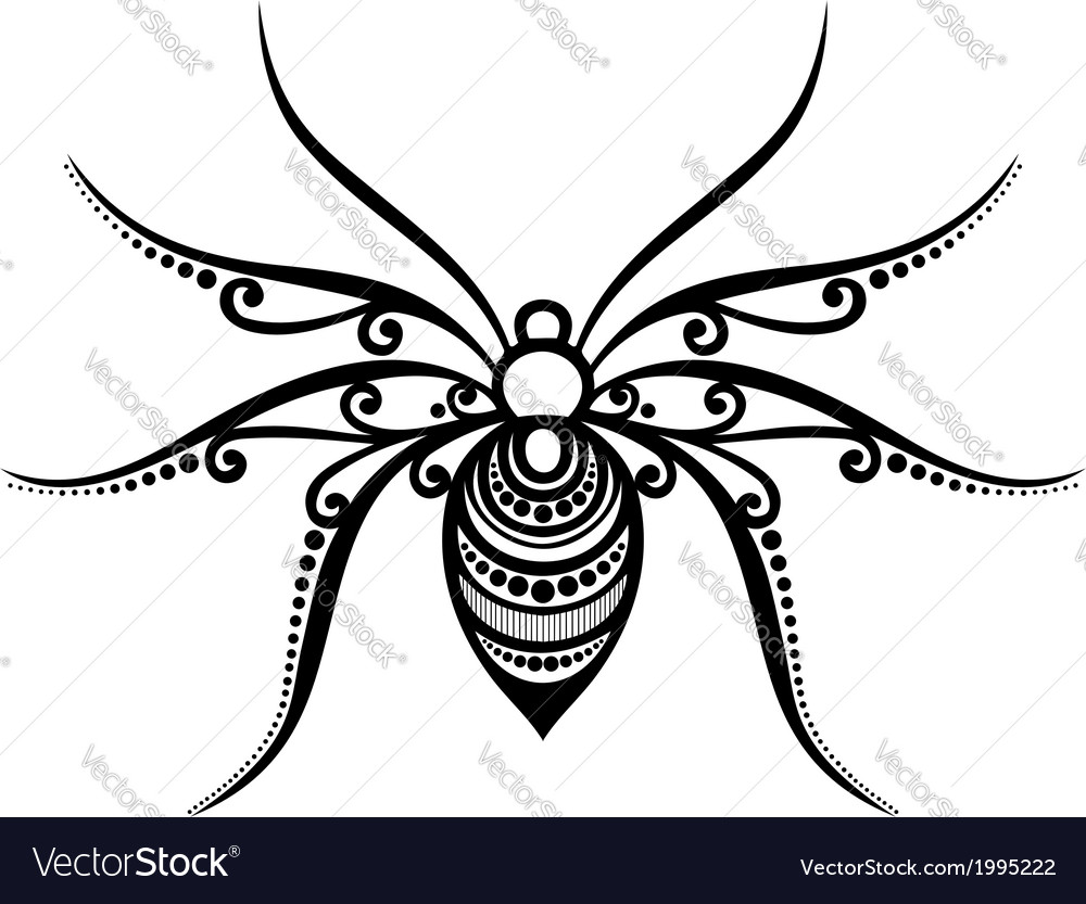 Beautiful spider exotic insect vector | Price: 1 Credit (USD $1)