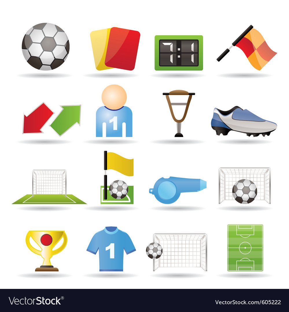 Football and sport icons vector | Price: 1 Credit (USD $1)