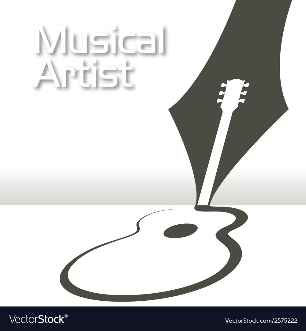 Guitar pen music vector | Price: 1 Credit (USD $1)