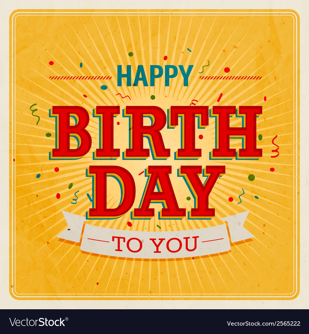 Happy birthday to you 2 vector | Price: 1 Credit (USD $1)