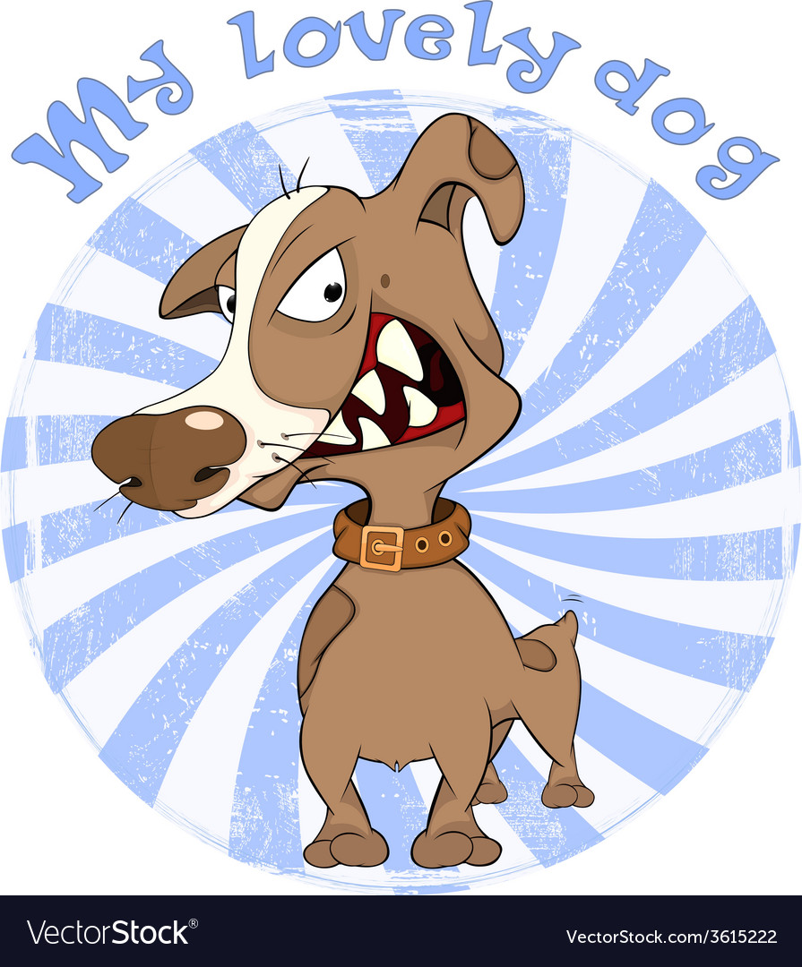 Hunting dog badge cartoon vector | Price: 1 Credit (USD $1)