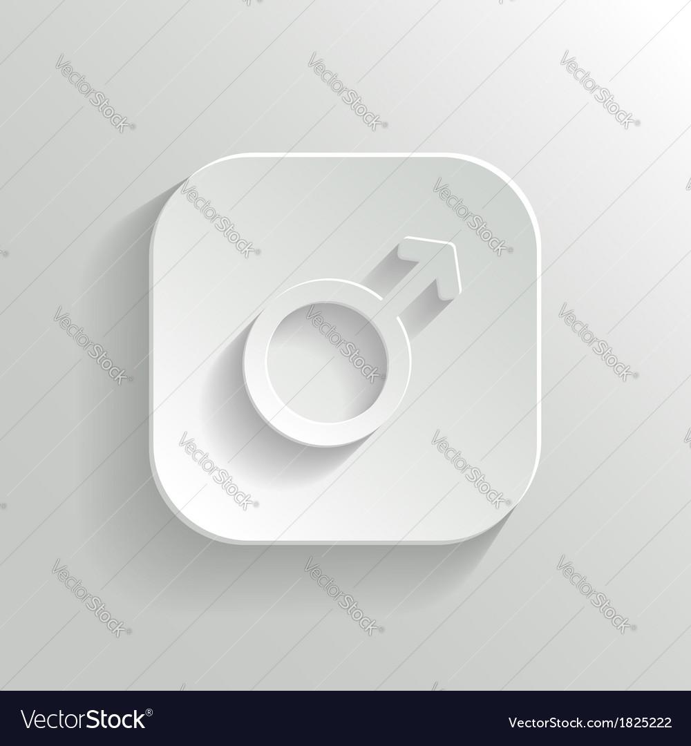 Male icon - white app button vector | Price: 1 Credit (USD $1)