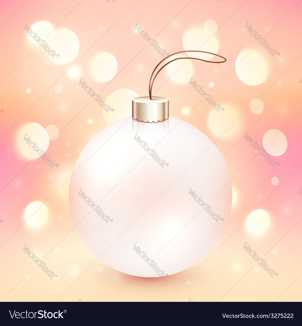 Pink christmas ball on shining bokeh effect vector   Price: 1 Credit (USD $1)