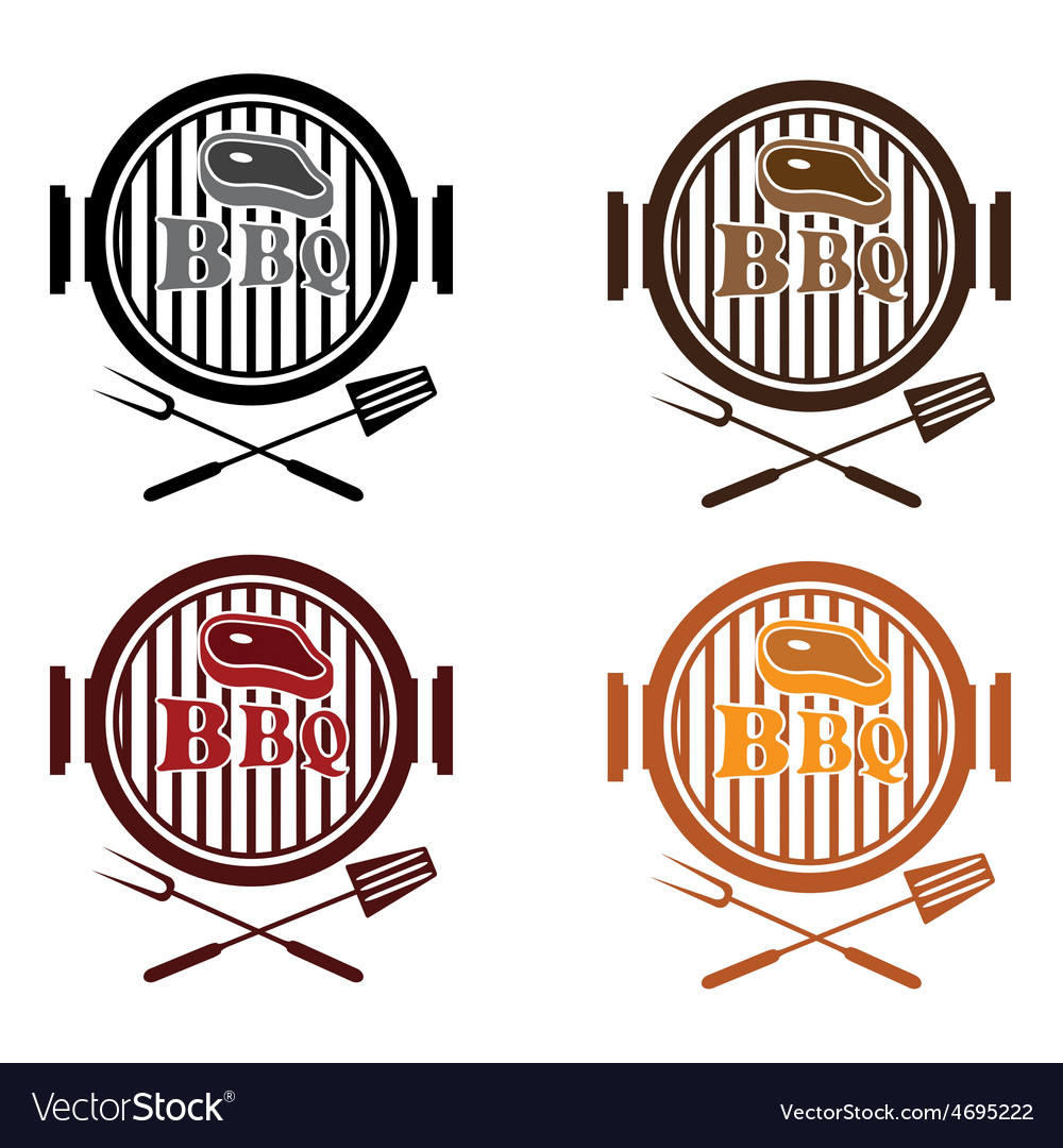 Set of bbq labels design template vector | Price: 1 Credit (USD $1)