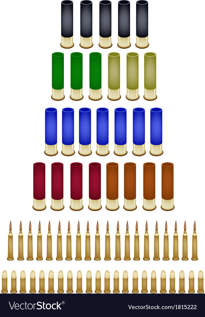 Set of various bullets on white background vector | Price: 1 Credit (USD $1)