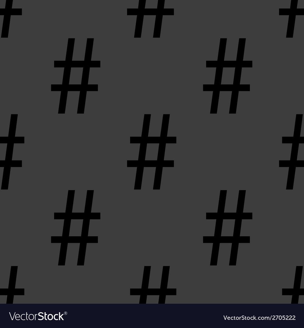 Sharp web icon flat design seamless pattern vector | Price: 1 Credit (USD $1)