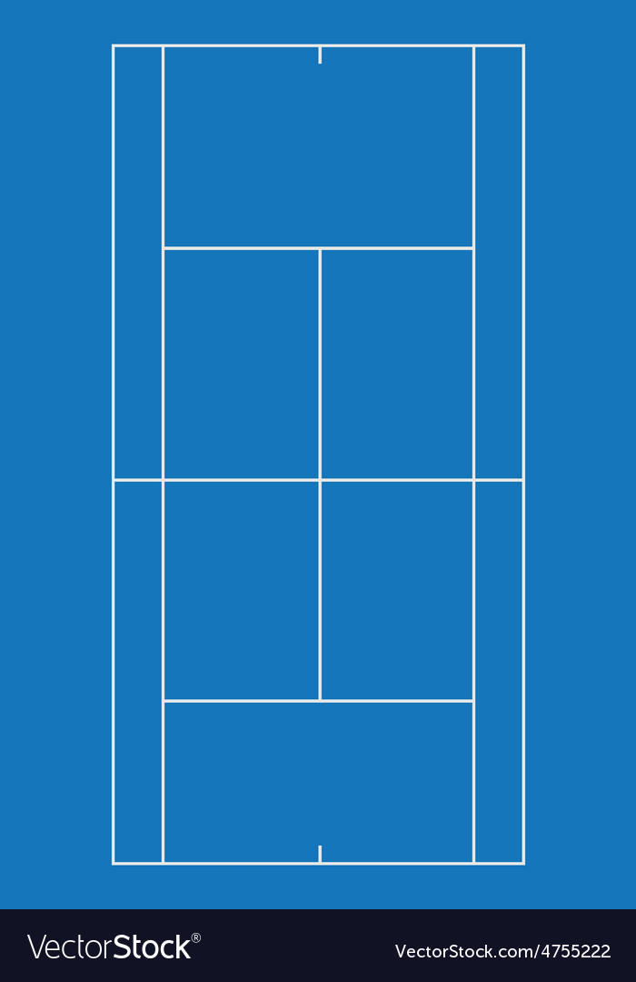 Tennis court blue vector | Price: 1 Credit (USD $1)