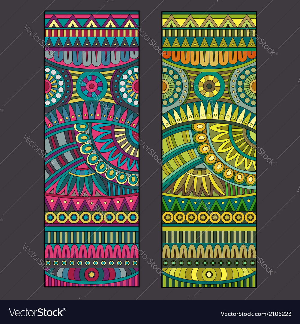 Abstract tribal ethnic background set vector   Price: 1 Credit (USD $1)