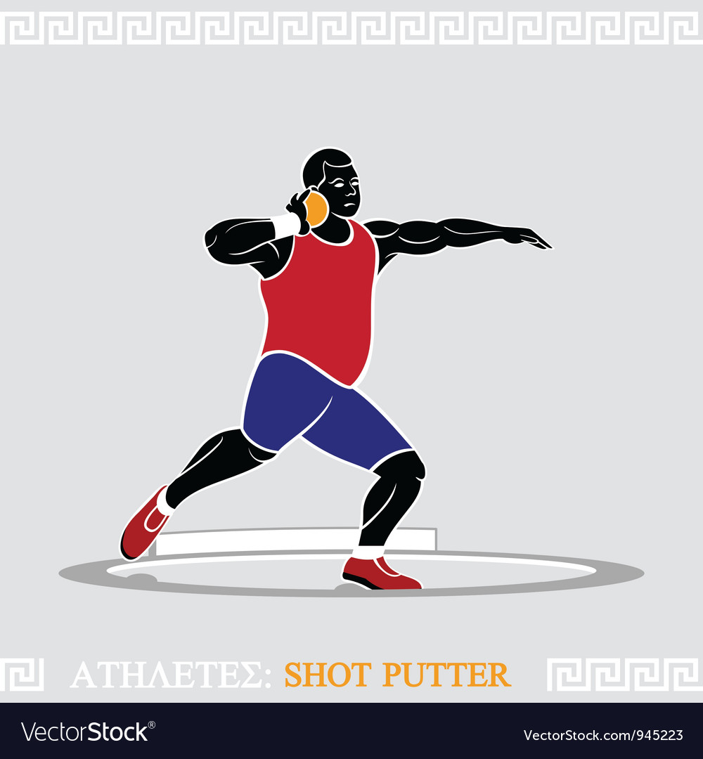 Athlete shot putter vector | Price: 3 Credit (USD $3)