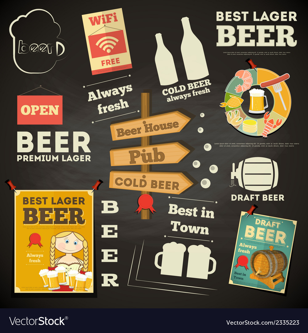 Beer menu vector | Price: 1 Credit (USD $1)