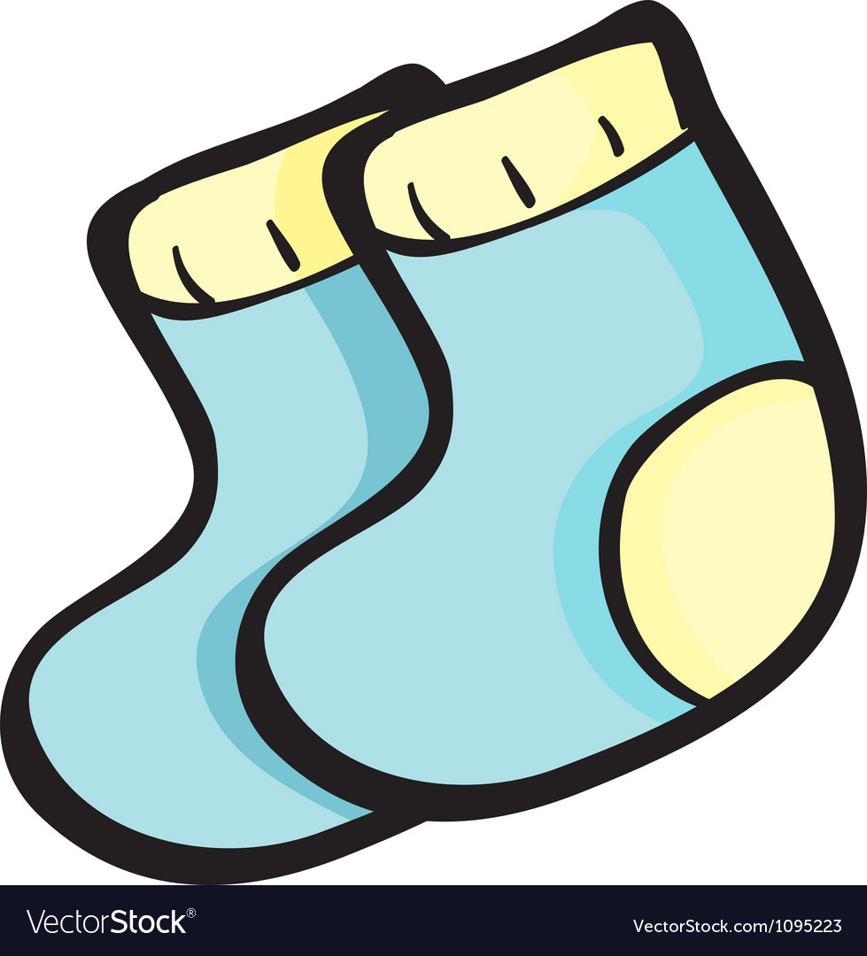 Blue socks vector | Price: 1 Credit (USD $1)